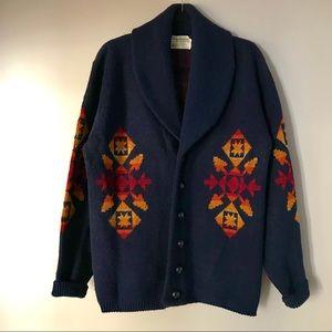 Vintage Pendleton Western Wear Aztec Cardigan